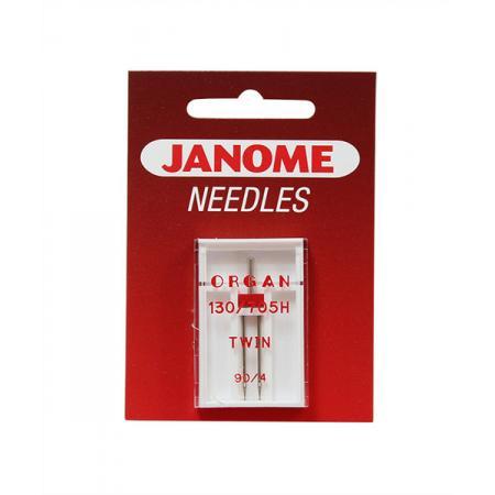 Igła podwójna Janome do tkanin (4,0/90), fig. 1