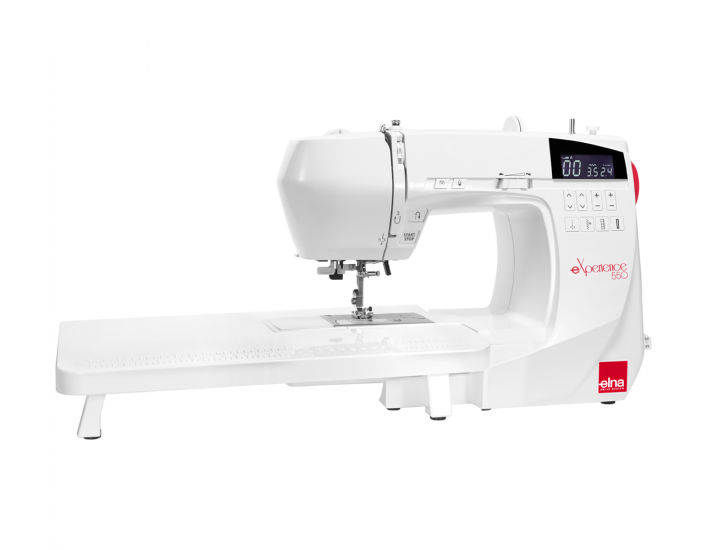 Maszyna do szycia Elna 550 eXperience ze stolikiem powiększającym pole pracy