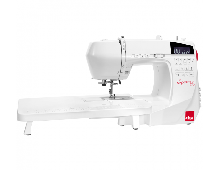 Maszyna do szycia Elna 570 eXperience ze stolikiem powiększającym pole pracy