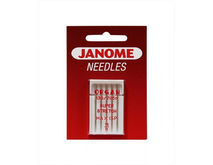 Komplet igieł JANOME 3 (do tkanin, dzianin, jeansu, skóry, podwójna), fig. 2