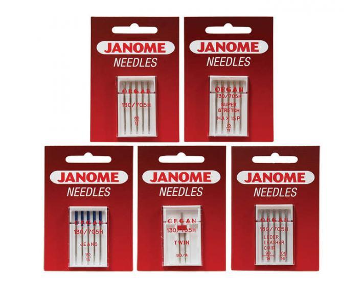 Komplet igieł JANOME 3 (do tkanin, dzianin, jeansu, skóry, podwójna), fig. 1